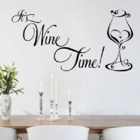 It's Wine Time~ Wall sticker / decals